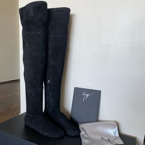 New Giuseppe Zanotti Cika over-the-knee suede boot